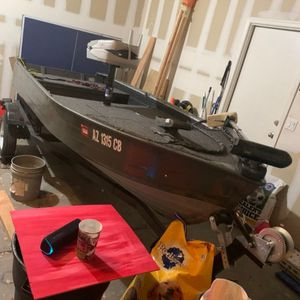12' Aluminum V-Hull Boat With 2 Motors, Trolling Motor, And Trailer for Sale in Phoenix, AZ