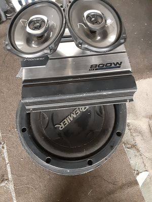 PIONEER AMP SUB 6X9s NO ASKING IF STILL AVAILABLE FOR SELL I BLOCK NO OFFERS ACCEPTED $140 FIRM for Sale in Los Angeles, CA