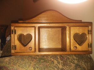 Vintage wood shelving with hearts wall decor for Sale in Florissant, MO