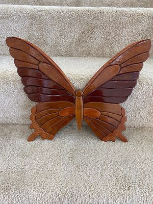 Handcrafted Wooden Butterfly Wall Hanging for Sale in Naples, FL