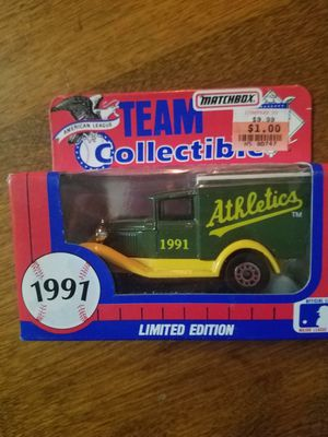 1991 Limited Edition Athletics Matchbox Team Collectibles truck for Sale in Newburgh, IN