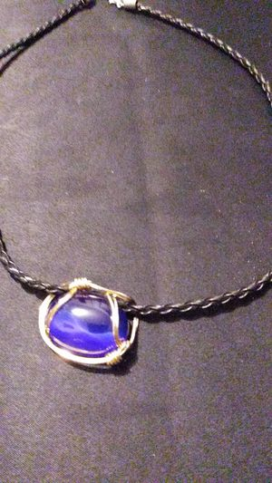 Blue Stone Pendant on Leather for Sale in North Richland Hills, TX