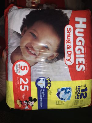 Huggies size 5 for Sale in Newport News, VA