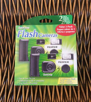 Fujifilm Disposable 35mm Camera With Flash, 2 Pack for Sale in Palm Harbor, FL