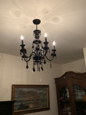 Chandelier set of two (black & white) for Sale in Los Angeles, CA
