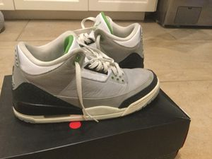 Air Jordan 3 chlorophyll, size men's 10.5 for Sale in West Lake Hills, TX