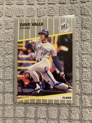 Dave Valle Autographed 1991 Fleer #561 for Sale in Federal Way, WA