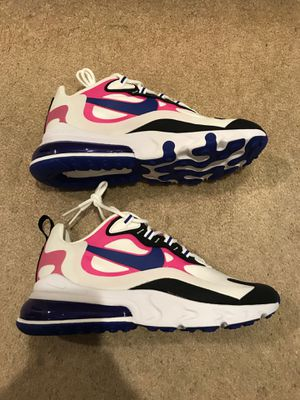 Brand new Nike air max 270 react white blue shoes women's 7.5, men's 6 for Sale in El Cajon, CA