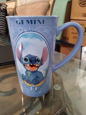 "Disney Lilo Stitch Gemini Astrology Zodiac 6"" Ceramic Blue Mug Cup Coffee Tea. for Sale in Homestead, FL"