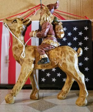 Santa Riding Wooden Horse Like June's Online Consignment Shop on Facebook for Sale in Neenah, WI