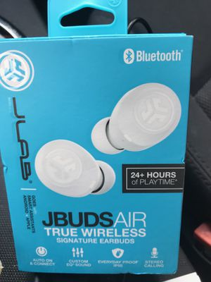 JLab Audio JBuds Air Sport True Wireless Bluetooth Earbuds + Charging Case - Black for Sale in Alexandria, VA