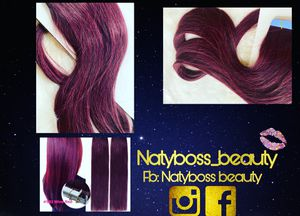 Wine red hairs extensions!! New!!! for Sale in Manchester, CT