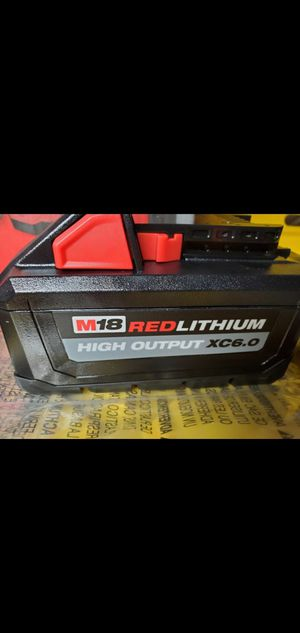 New Milwaukee M18 REDLITHIUM High output XC6.0 Battery for Sale in San Diego, CA