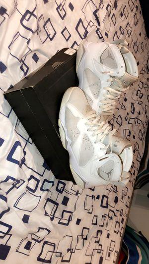 Jordan 7 White Metallic Silver (size 9.5) for Sale in Alexandria, VA
