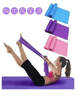Exercise Bands for Physical Therapy Resistance Bands Set 1.5 Meter Premium Quality Fitness Bands for Pilates, Yoga, Strength Training Workout Bands f for Sale in Hollywood, FL