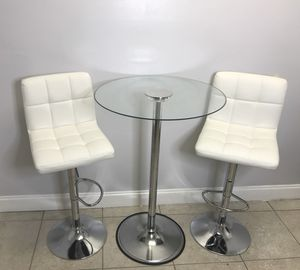 Glass bar table and stools for Sale in Miami, FL
