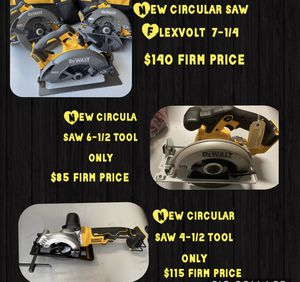 New DeWALT circular saw firm price for Sale in Kissimmee, FL