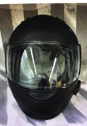 ICON Large Motorcycle Helmet and SENA SMHR10R-01 Bluetooth Headset for Sale in Medford, MA