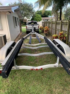aluminum tandem axle boat trailer 26/30 for Sale in Hollywood, FL