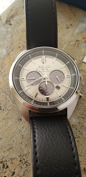 Seiko Recraft Chronograph Model SSC569 - with box and tags for Sale in Appleton, WI