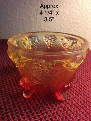 Jeanette - ORANGE TREE ANTIQUE Depression ART GLASS FRUIT BOWL for Sale in Round Rock, TX