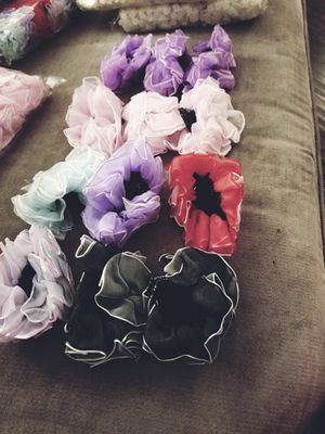 Bag of one dozen new hair scrunchies for Sale in Glendora, CA