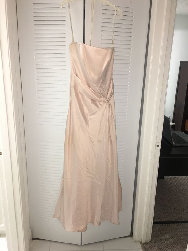 Soft pink bridesmaid dress