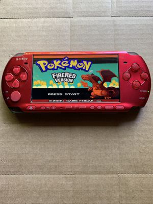 PSP Slim Red With 5,000+ Games And Movies for Sale in Santa Ana, CA