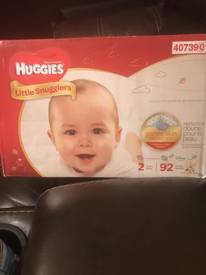 Huggies diapers size 2 -92pcs for Sale in St. Louis, MO