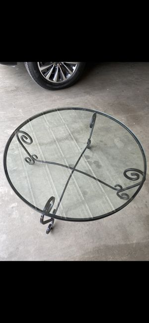 """Iron and glass coffee table for sale! 36""""L X 17"""" H. for Sale in Midland, TX"""