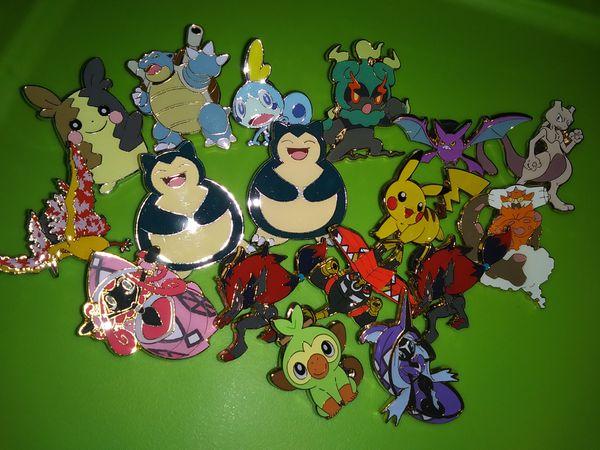 Pokemon Pins 17 Total As Lot