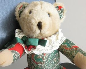Christmas Teddy Bear Jointed for Sale in St. Louis, MO