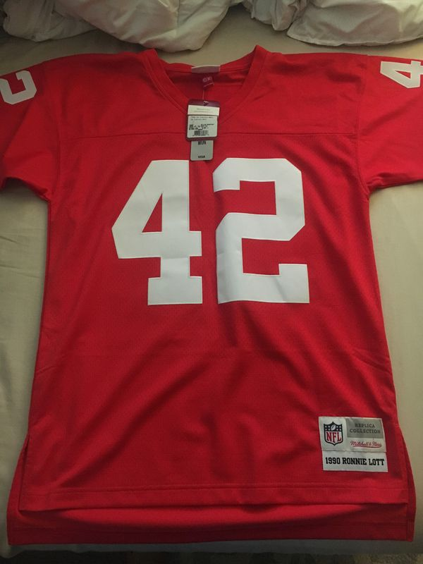 purchase cheap 97a87 6143f 49ers Ronnie Lott Mitchell & Ness Jersey (size 40) medium for Sale in  Orange, CA - OfferUp
