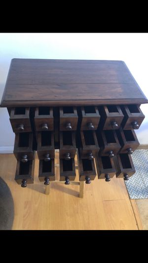 Antique apothecary box cabinet. 100% Mahogany solid wood solid for Sale in Los Angeles, CA