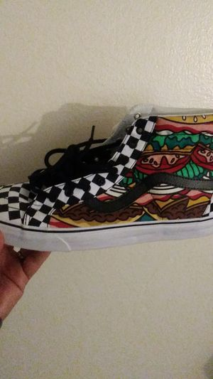 Vans sk8-hi reissue late-night Burgers last check brand new size 13 Men for Sale in Vacaville, CA