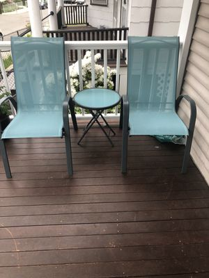 Teal outdoor set for Sale in Newton, MA