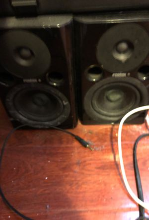 Studio speakers, brand new mic , and audio box tap in for Sale in Oakland, CA