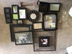 Frames and shelves for gallery wall for Sale in Bolingbrook, IL