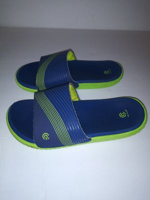 Boys Champion Slide sandals Size 13/1, blue green for Sale in Victoria, TX