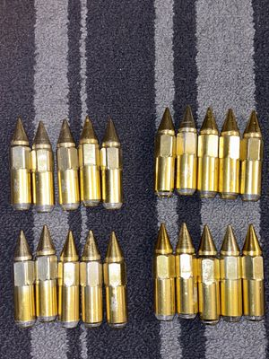 20 Gold Spikes lug nut M12x1:25 for Sale in Kagel Canyon, CA