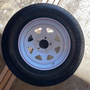 """15"""" Full Size Trailer Tire And Brand New Rim for Sale in Troutdale, OR"""