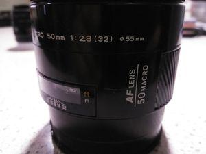 Minolta AF 50mm f2.8 1:1 macro lens for Sale in Winter Springs, FL