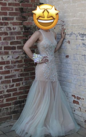 Light blue and tan prom dress for Sale in Stone Mountain, GA