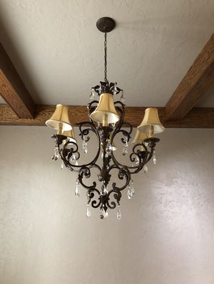 Crystal and metal chandelier for Sale in Plano, TX