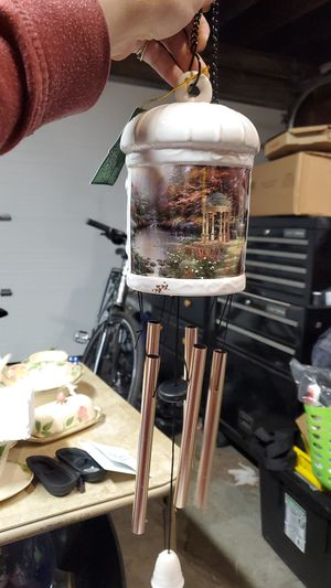 Thomas kinkade hanging porcelain wind chime for Sale in Aloha, OR