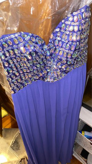 Purple Floor Length Sequin Bodice Prom Dress for Sale in Wellesley, MA