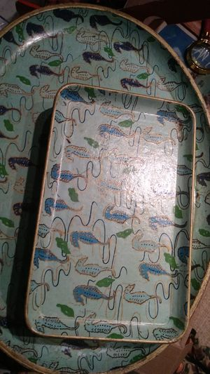 I have vintage tea serving or sushi serving trays hand-painted for Sale in Sacramento, CA