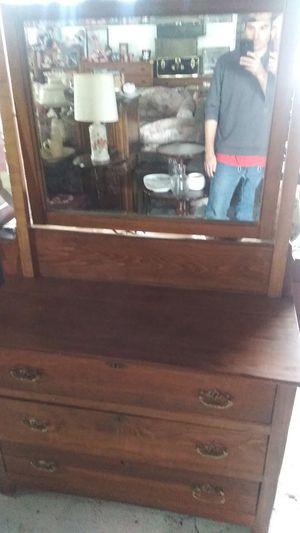 Antique Solid Oak Dresser for Sale in Odenton, MD