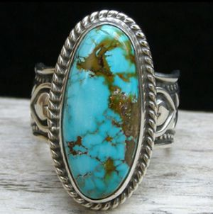 Tibetan Silver Bohemian Style Turquoise Stone Ring for Sale in Wichita, KS