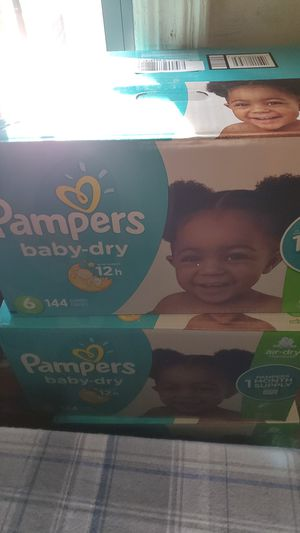 Pampers baby-dry size 6 for Sale in Brooklyn, NY